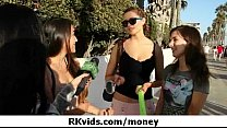 Gorgeous teens getting fucked for money 12 image