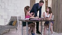 FuckStudies.com -  Shakila Asti & Sofy Torn - Well-hung tutor serves two student porn image