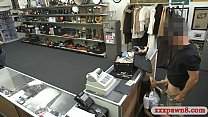 Latin stewardess screwed by pawn keeper at the pawnshop
