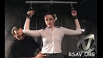 Hot babe in astonishing sadomasochism scenes with ropes and clothespins Vorschaubild