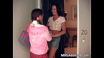 Nasty brunette MILF caught young Asian