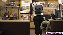 Hot amateur brunette babe gets screwed at the pawnshop pornhub video