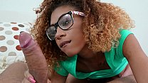 Cute black teen screws around with her naughty tutor