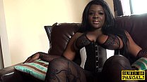 Black busty brit assfucked and dominated
