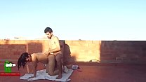 She is doing exercise on the terrace and he wants her pussy ADR0065