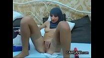 Intense Arab Chick Wearing Her Hijab