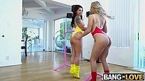 Abella Danger , Gina Valentina In Two Big Asses Sharing a Big Cock