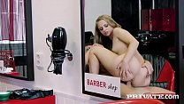 Cutie Teen Hairdresser Lady Bug Tries Anal