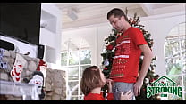Brother Fucks Step Sister During Christmas - www.mom going black.com thumbnail