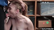 Poor shoplyfter Gracie May Green she need to suck a big cock for a payback! pornhub video