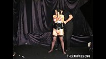 Extreme mature slave girls hooded breast bondage and vicious tit Preview