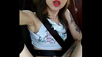 Public Squirt in a car | Laruna Mave