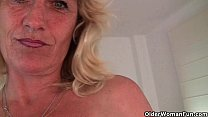 Granny Terry gets her hard nipples pinched