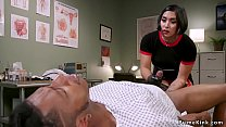 Asian dom doctor strokes black slaves dick Thumbnail