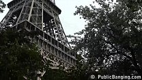 Eiffel Tower Public Threesome