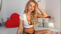 A beautiful blonde girl on webcam. Super HOT!