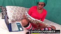 Ebony Step Daughter Sucking Dick Doing Home Work Blowjob