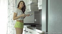 Teeny Lovers - Anal dessert Rebeca Taylor in a kitchen thumbnail