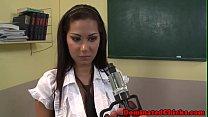 Teen babe dominated in pov by her professor