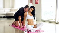 PornPros - Hot ebony girl Karmen Bella gags on ...