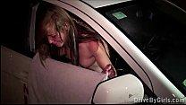 A hot blonde teen girl Alexis Crystal PUBLIC sex gang bang