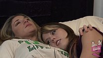 Lesbian babe Amber Chase seducing Kayla Paige preview image