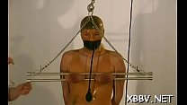 Naked woman gets the love muffins ravished in breast torture show