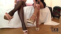 Black Angelica & Zafira Suck On Their Toes & A Double Dong thumbnail