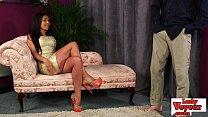 British voyeur babe watches jerk off action