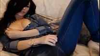 Sexy brunette from 69webcam.net fingering