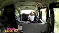 FemaleFakeTaxi Blonde gets a wet pussy after attempted robbery preview image