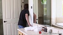 Hot Russian Stepmom Crystal Rush Soothes Her Son's Huge Erection