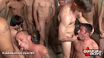 Cute guy gets his ass fucked hard in a gangbang - Bukkake Boys