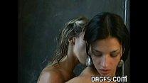 Hot Lesbian couple fondling