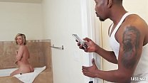 Poor Jada Stevens, she can't have a moment alone at the bath because Black Dick Invasion starts Thumbnail