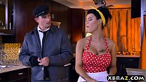 Busty Maid Peta Jensen Gets Fucked Hard While Cleaning