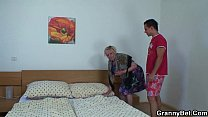 Moaning Grandma  Rides Young Meat at