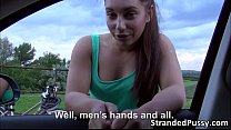 A damn wild outdoor sex with pretty teen Jenny ...