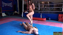Ballbusting Catty Heaven abuses a pervert's cock and balls 6