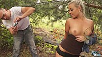 Horny Blonde rich princess first time outdoor Fuck