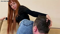 Young Girl In Jeans   Scissoring Femdom During