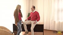 OLD4K. Ellen Jess needs right direction but mature man has dick for her