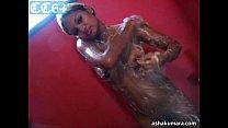 Dusky and sexy Asha Kumara stripping naked and taking shower porn thumbnail