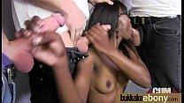 Ebony babe sucks too many white cocks 3