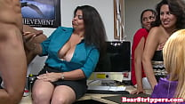 Real wives blowing strippers in office pornhub video