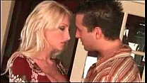 Blonde bombshell Nadia Hilton gets big boob titty fucked and sucked