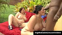 Big Hot Women Angelina Castro & Lexxxi Lockhart Blow BBC!