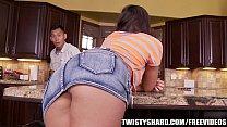 Rilynn Rae gives her plumber an upskirt view thumbnail