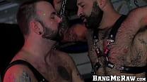 Tattooed Bearded Atlas Grant Bareback Ass Drill