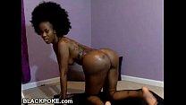 Sexy ebony with huge booty teasing